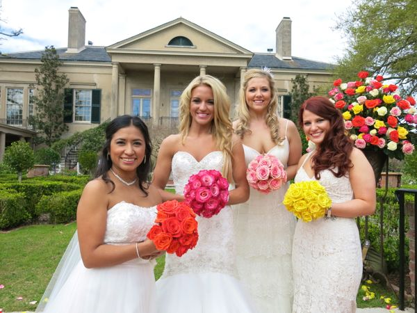 On Tonights Episode The Four Brides Are A Bride Who Cheers For New Orleans Saints Will Show Off Her Floral Design Skills Traditional