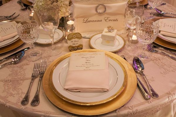 Must have wedding accessories from lavanna events bridal hot list an elegant and chic tabletop showing off all the beautifullu hand crafted accessories including a customized menu customized sign wedding favor junglespirit Image collections