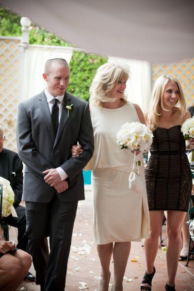 Bride walking in