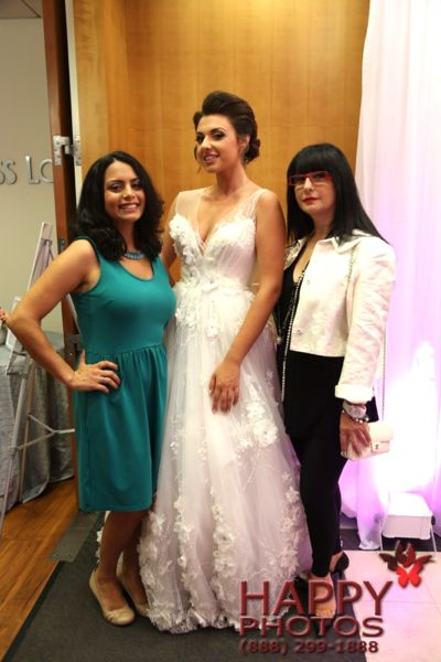 Chief Editor, Niloufar Gibson, with model Jasmine, and gown designer Armine.