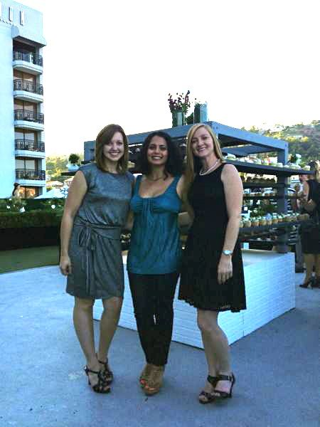 Niloufar, Owner and Chief Editor of Bridal Hot List with the Cupcake Wars Winners