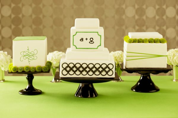Mod Cake Trio - Photo Andrea Bricco, cake Superfine Bakery